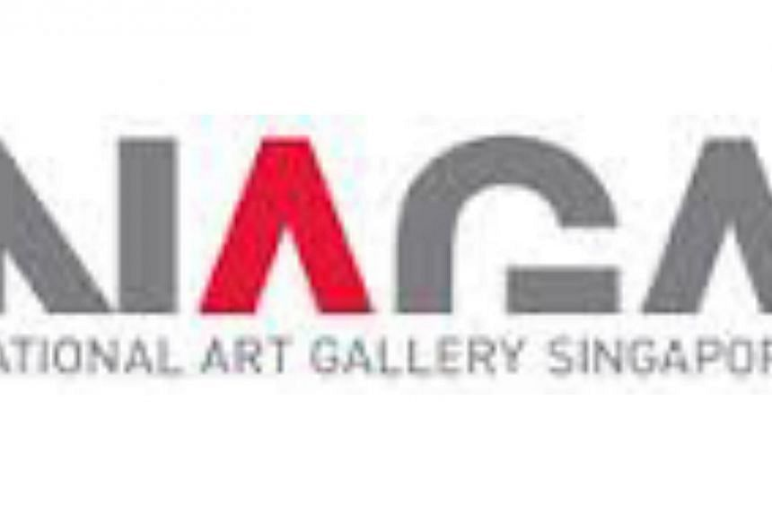 The original logo for The National Art Gallery of Singapore was revamped along with its new name of National Gallery Singapore on April 2, 2014. -- FILE PHOTO:NATIONAL GALLERY SINGAPORE