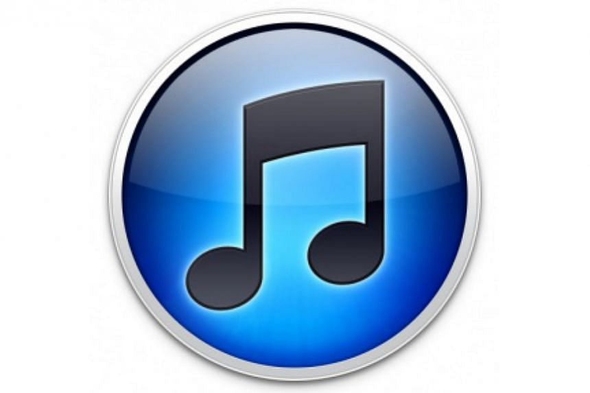 The iTunes 10 logo, a black music note on a flat blue bubble, was introduced in 2010. -- FILE PHOTO:SCREENGRAB FROM TECHNORATI