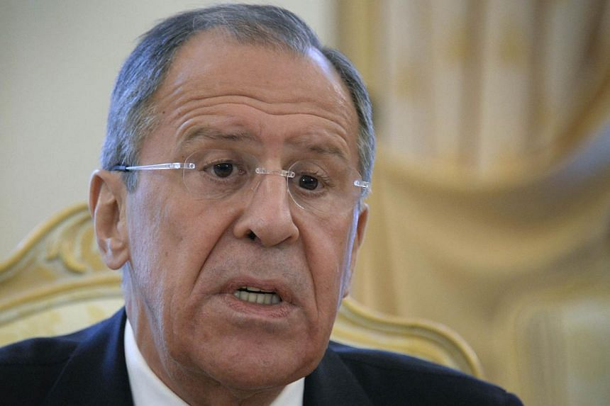 Russian Foreign Ministry Sergei Lavrov said on Monday, April 14, 2014, Ukraine's Russian-speaking eastern regions should be involved in drafting a new state structure that Kiev has said may be put to a referendum next month. -- PHOTO: AFP