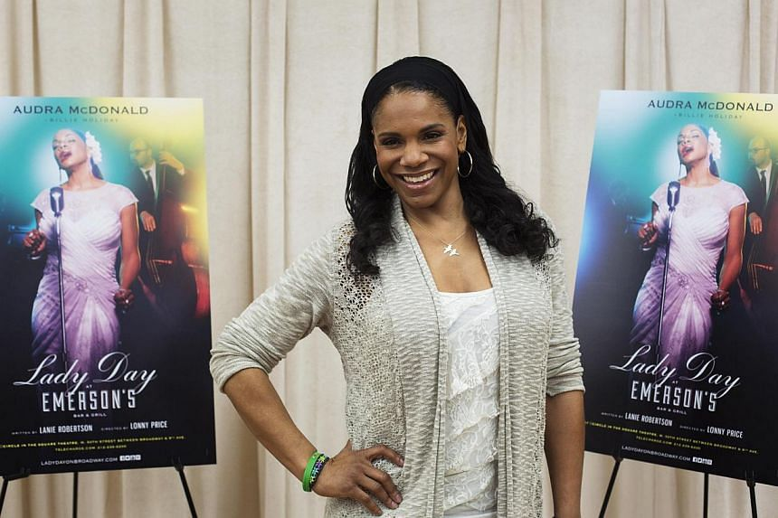 Audra McDonald, 43, is a classically trained soprano who won her last best actress Tony for The Gershwins' Porgy And Bess in 2012. But in Lady Day At Emerson's Bar & Grill she becomes Billie Holiday, who is considered one of the greatest jazz sin