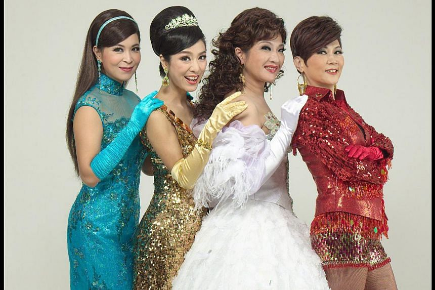 The latest stage run of I Have A Date With Spring stars Hong Kong show business veterans (from left) Louisa So, Michelle Yim, Alice Lau and Eliza Chan. -- PHOTO: SPRING-TIME PRODUCTIONS