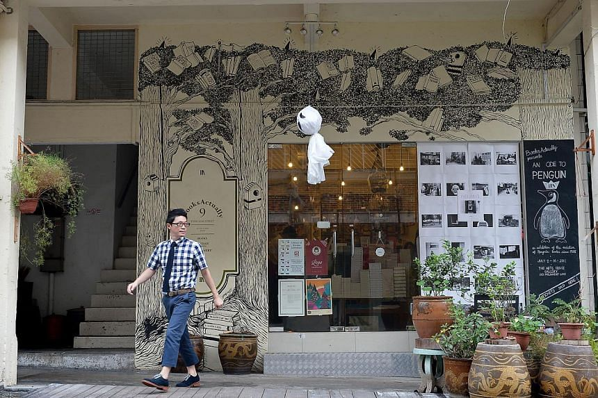 Books Actually store in Yong Siak Street. Rental along that short stretch which is at the fringe of the Tiong Bahru conservation estate had shot up in the last few years, according to some tenants in a newspaper report in November last year. -- ST FI