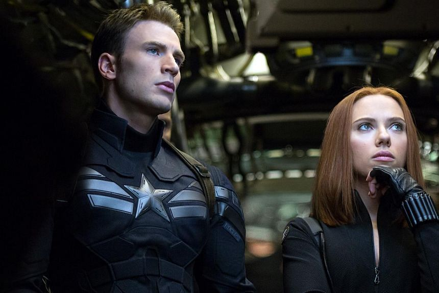 Cinema Still : Captain America: The Winter Soldier starring Chris Evans (left) and Scarlett Johansson. -- FILE PHOTO: WALT DISNEY PICTURES
