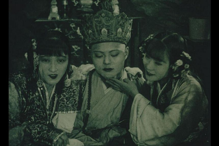 A still from the 1927 Chinese silent movie The Cave Of The Silken Web. -- FILE PHOTO: AFP