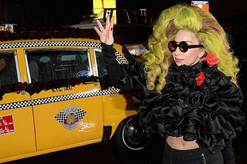 Lady Gaga arrives at Roseland Ballroom on April 7, 2014, in New York City. American pop diva Lady Gaga is slated to perform at a summer music festival in South Korea, where her first show two years ago received an adult-only rating from state ce