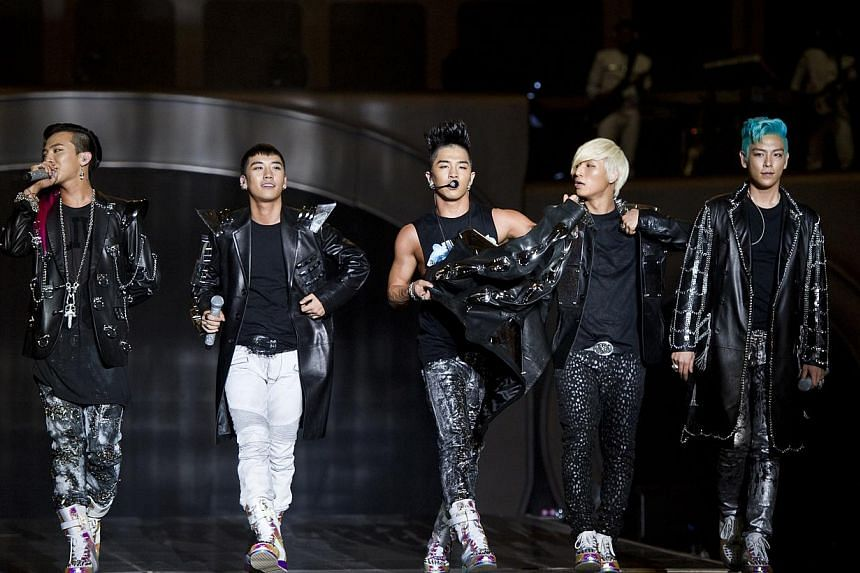K-pop boyband Big Bang. -- FILE PHOTO:LUSHINGTON ENTERTAINMENT