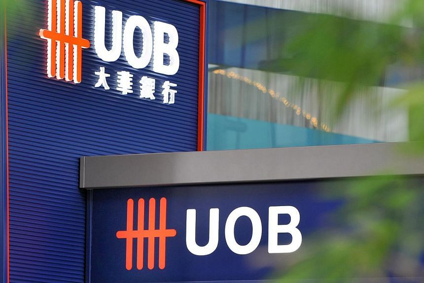 Since the start of the year, UOB has outperformed both its peers in the local banking sector. The stock has gained 3.7 per cent year-to-date versus -1.5 per cent for the industry average. -- BT FILE PHOTO: ARTHUR LEE CH