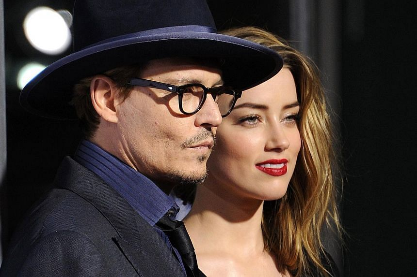 Actor Johnny Depp in Pirates Of The Caribbean: At World's End and Alice In Wonderland, with former long-time partner, French actress and singer Vanessa Paradis, and fiancee Amber Heard (above). -- PHOTOS: AGENCE FRANCE-PRESSE, CHANEL, DISNEY, GOLDE