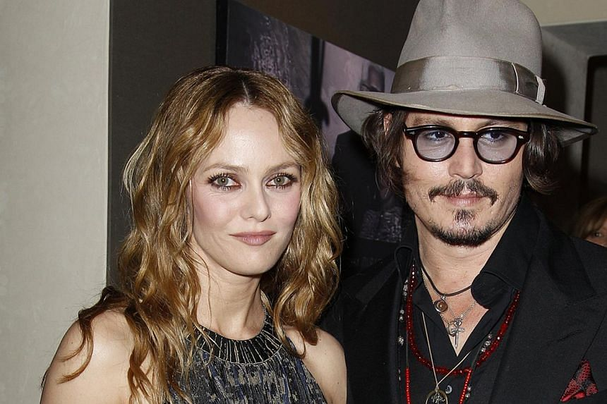 Actor Johnny Depp in Pirates Of The Caribbean: At World's End and Alice In Wonderland, with former long-time partner, French actress and singer Vanessa Paradis (above), and fiancee Amber Heard. -- PHOTOS: AGENCE FRANCE-PRESSE, CHANEL, DISNEY, GOLDE