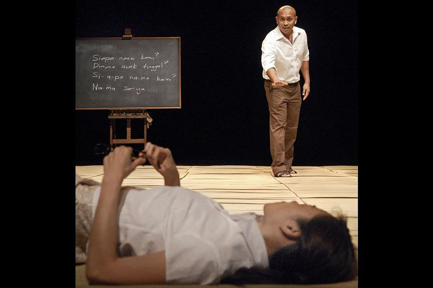 National Language Class (2008) was inspired by paintings that captured snapshots of the old Singapore. -- PHOTO: ST FILE