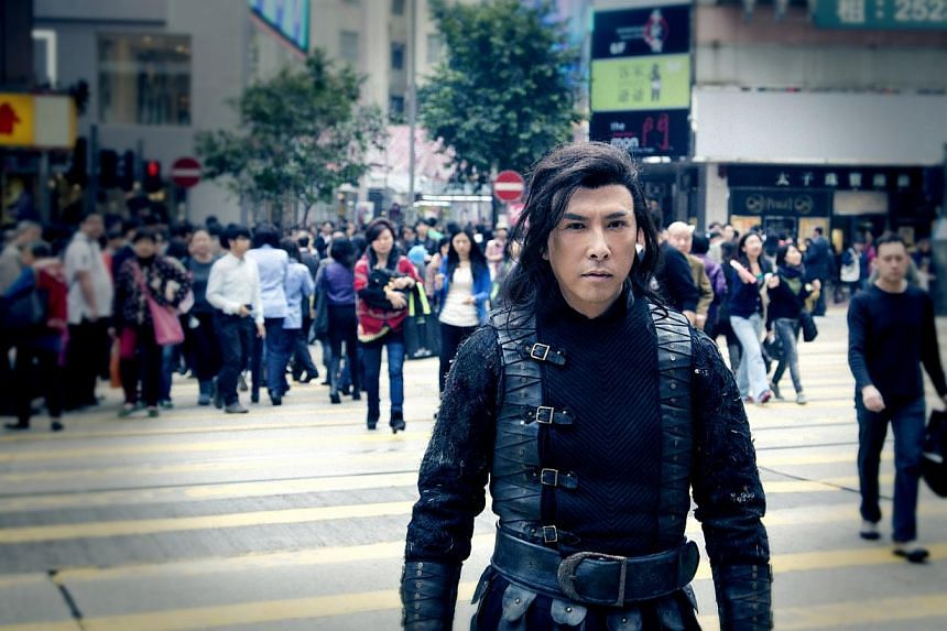 Donnie Yen as a Ming Dynasty warrior who time- travels to modern- day Hong Kong in Iceman 3D. -- PHOTO: SHAW ORGANISATION