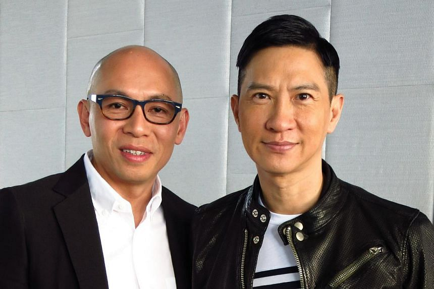 Great friends and work pals: Nick Cheung with Dante Lam who directed him in That Demon Within (above). -- PHOTO: CLOVER FILMS