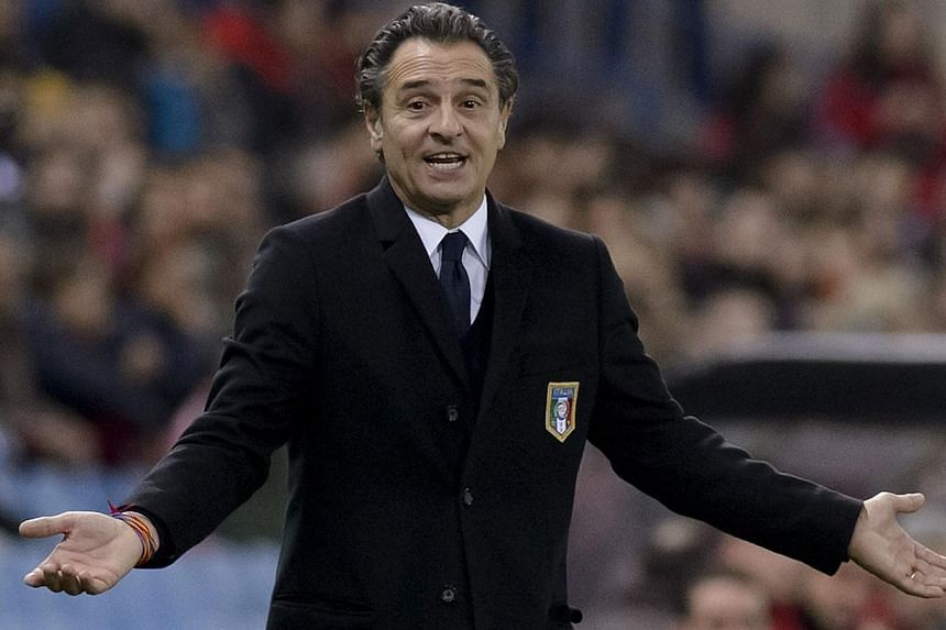 Italy coach Cesare Prandelli has warned that players won't be considered for the World Cup if they are sent off or caught misbehaving in club matches before the end of the season.-- FILE PHOTO: AFP