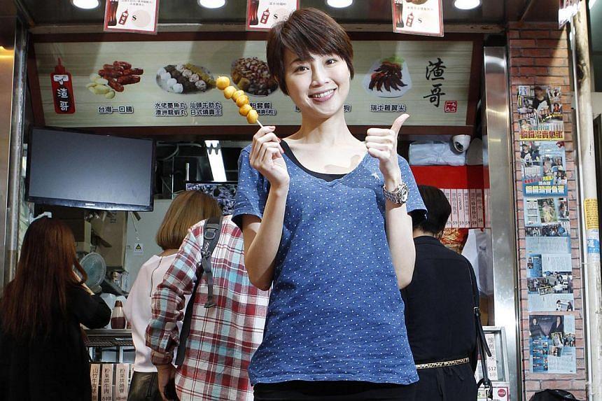 Former Miss Hong Kong Halina Tam now sells fish balls in Causeway Bay. -- FILE PHOTO: APPLE DAILY