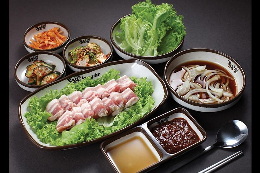 Set meal from Kkongdon Korean Barbeque Restaurant. If food marketers in South Korea had their way, every day would be a day to eat something special.-- FILE PHOTO:KKONGDON KOREAN BBQ RESTAURANT