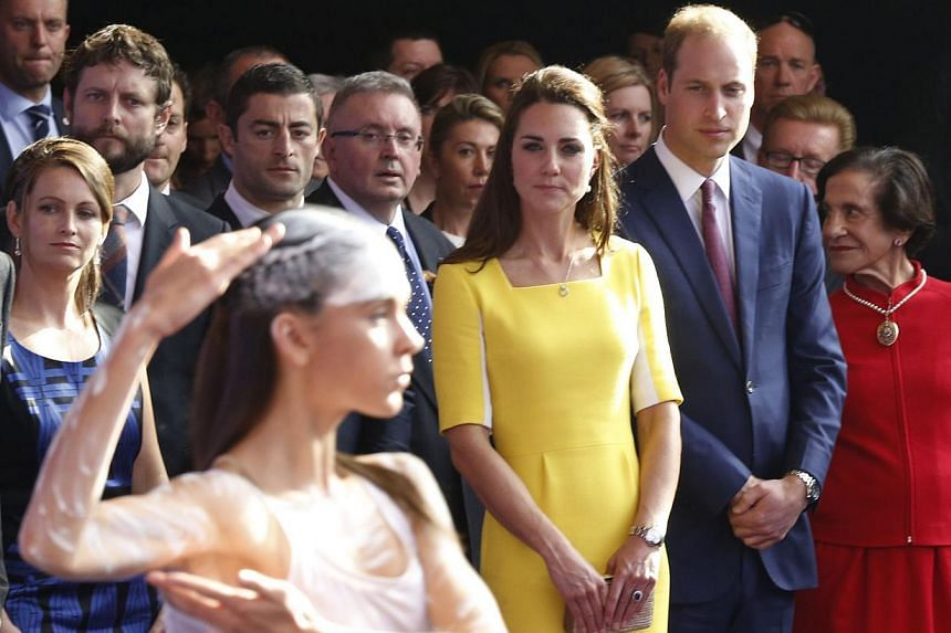 Britain's Prince William and his wife Catherine, Duchess of Cambridge, during a reception at the Sydney Opera House, on April 16, 2014. -- PHOTO: REUTERS