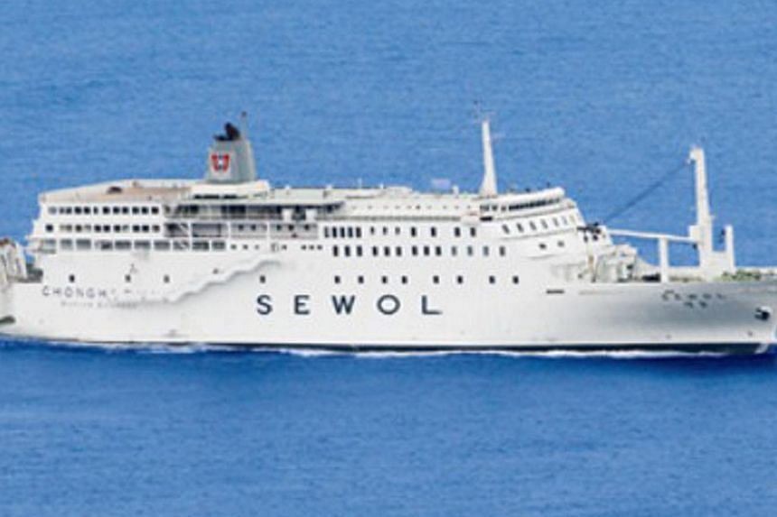 This undated picture released by the Mokpo Coast Guard Station on April 16, 2014 shows the 6,825-ton vessel Sewol that was at the centre of a rescue operation after it sent a distress signal. -- PHOTO: AFP