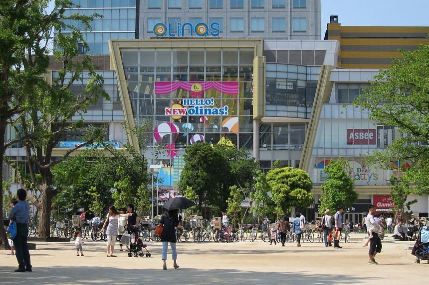 CapitaMalls Asia's revenue grew 4.8 per cent year-on-year for the first three months of the year to $125 million. This was due to higher property income from Olinas Mall in Japan (pictured) and operating malls in China. -- FILE PHOTO: CAPITAMALLS ASI