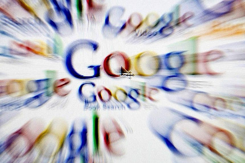 Google Inc's internet business revenue grew 19 per cent in the first quarter, falling short of Wall Street targets as the price of its online ads continued to decline. -- PHOTO: BLOOMBERG