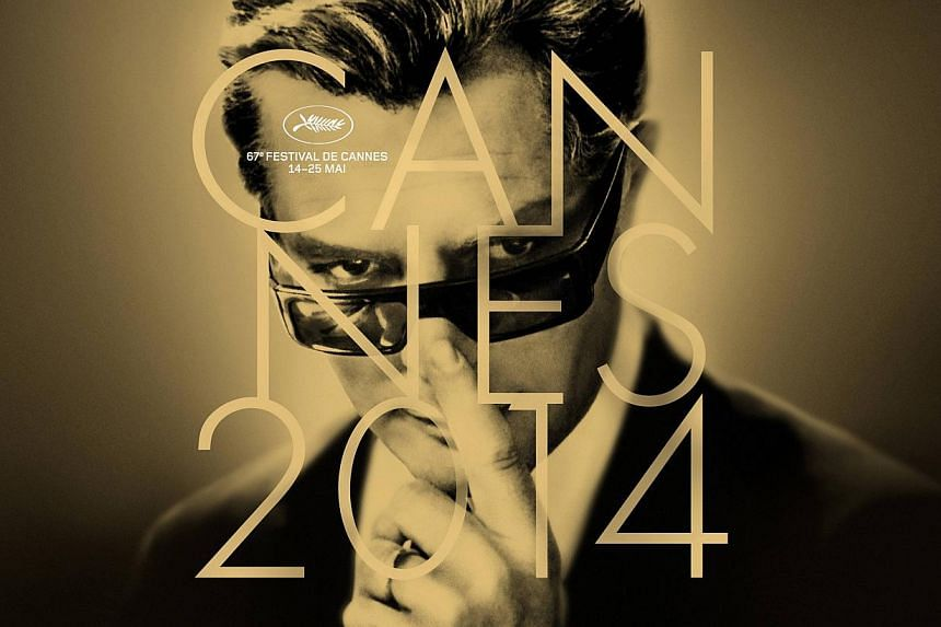 The official poster for the 67th Cannes Film Festival featuring actor Marcello Mastroianni. -- FILE PHOTO: REUTERS