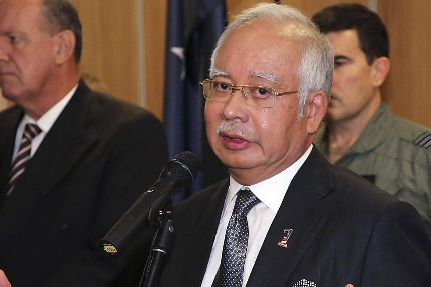 Malaysia's Prime Minister Najib Razak said he was shocked by the death of veteran opposition politician Karpal Singh. -- PHOTO: REUTERS