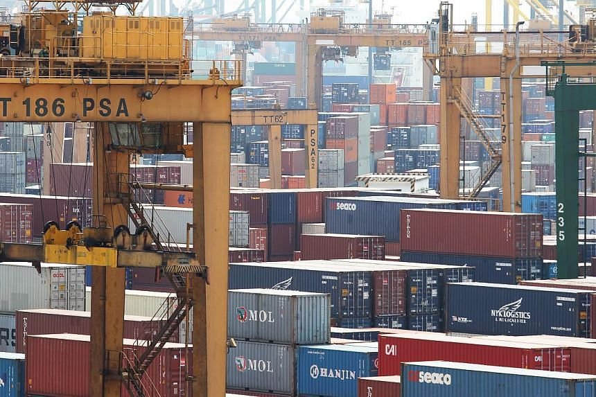 Non-oil domestic exports slipped 6.6 per cent in March over a year ago, after rising 8.9 per cent in February, said trade agency IE Singapore on Thursday. -- ST FILE PHOTO: ONG WEE JIN