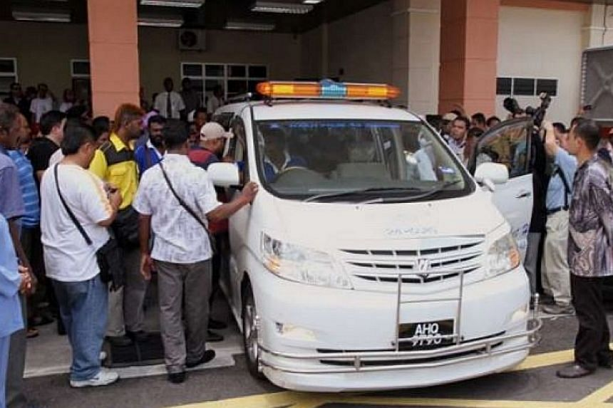 Karpal Singh's body will be send off to his home in Penang at the Ipoh hospital mortuary.-- PHOTO: THE STAR/ ASIA NEWS NETWORK