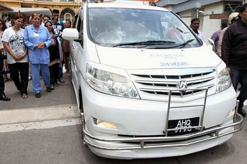 Karpal Singh's remains will be transported to his home in Penang.-- PHOTO: THE STAR/ ASIA NEWS NETWORK
