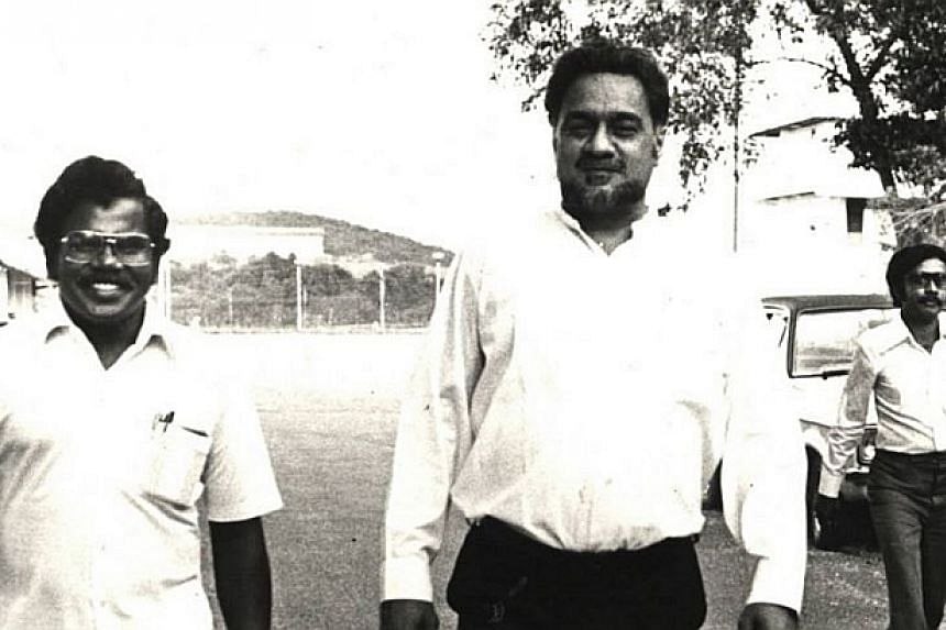 1981: Karpal Singh and P. Patto (left) at the NBI headquarters.-- FILE PHOTO: THE STAR/ ASIA NEWS NETWORK