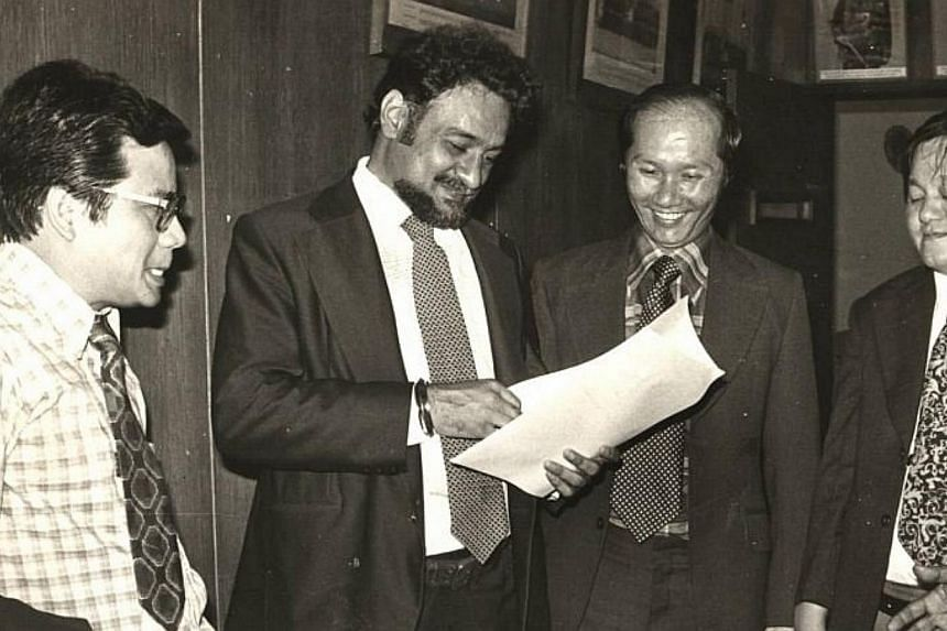 1979: (From left to right) DAP state assemblymen Chin Nyok Soo, Karpal Singh, Ooi Ean Kwong, Seow Hun Khim having a group discussion.-- FILE PHOTO: THE STAR/ ASIA NEWS NETWORK