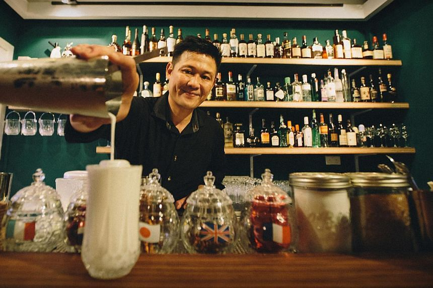 Veteran bartender Din Hassan, who helms Manor Bar, will also invite guest bartenders to mix things up a bit. -- PHOTO: MANOR BAR