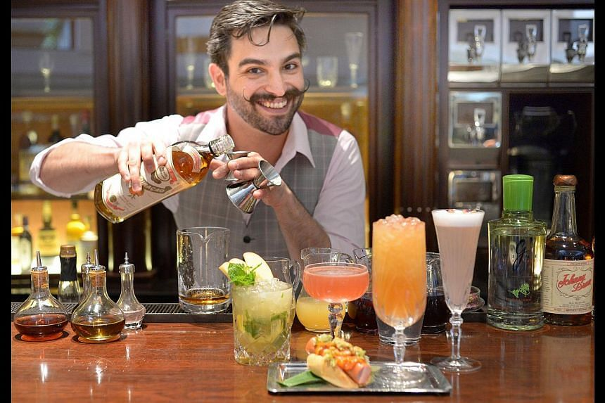 Bartender Ricky Paiva, who has worked at world-leading bars, will serve drinks inspired by New York's iconic neighbourhoods. -- ST PHOTO: LIM SIN THAI