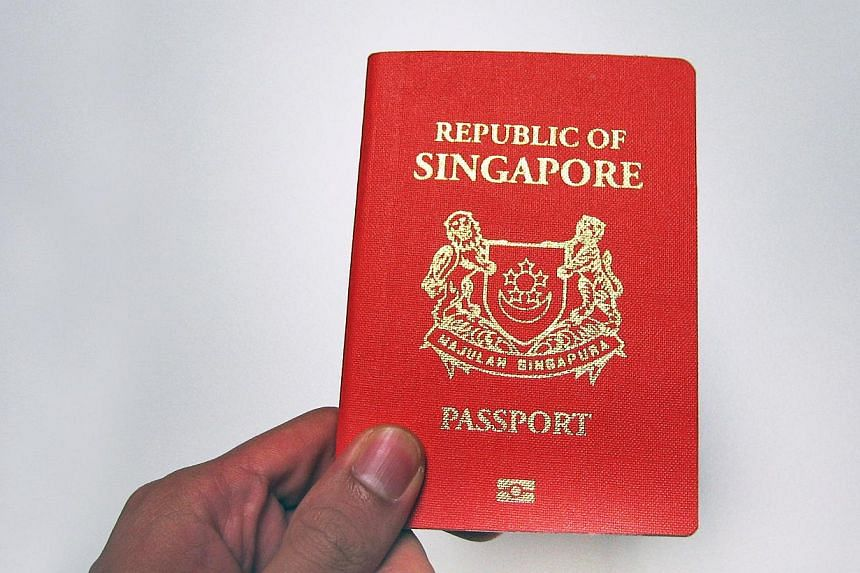 A Singaporepassport remains one of the most welcome in the world, research has found. -- ST FILE PHOTO:MALCOLM MCLEOD
