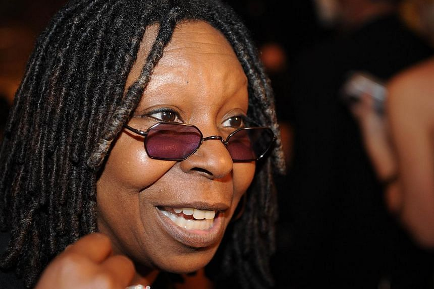 A file picture taken on May 9, 2009 shows US actress Whoopi Goldberg arriving for the 2009 White House Correspondents Dinner on at the Washington Hilton in Washington.Oscar-winning actress, comedienne and talk-show host Whoopi Goldberg sang the