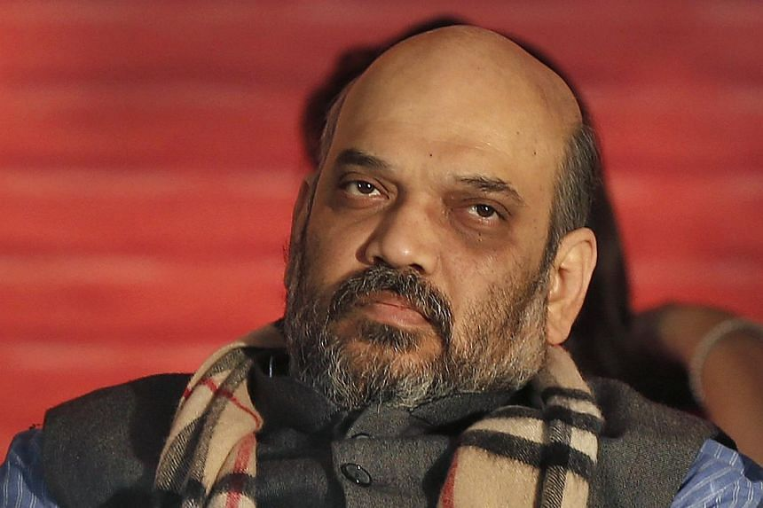 Mr Amit Shah, a leader of India's main opposition Bharatiya Janata Party (BJP), attending his party's national council meeting at Ramlila ground in New Delhi January 18, 2014. -- FILE PHOTO: REUTERS