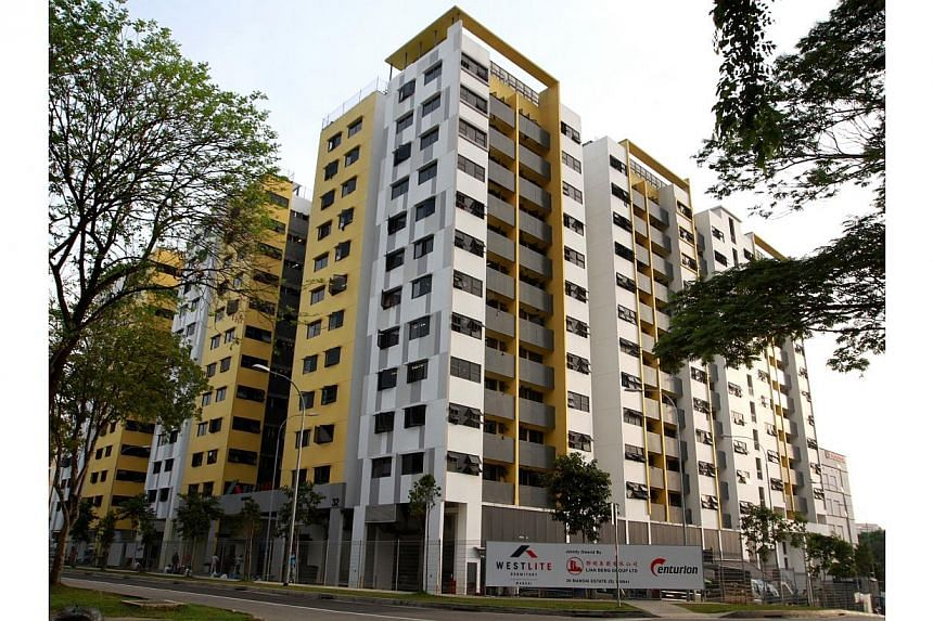 """Westlite Mandai, a migrant workers' dormitory that comprises three 12-storey buildings. Large dormitories in Singapore will come under a regulatory framework, and more details will be announced """"in a few months' time"""", the Ministry of Manpower said o"""