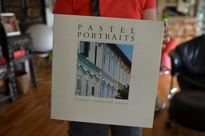 Pastel Portraits: Singapore's Architectural Heritage was rejected by other publishers, but has since gone into seven reprints under Select Books. It has also acquired the status of a library reference book. -- ST PHOTO: CAROLINE CHIA