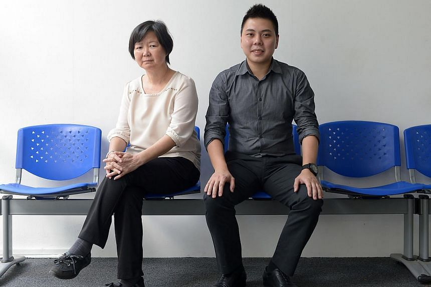 HR manager Alvin Yap, 33, and management system consultant Teo Geok Leng, 57, have both made use of the eldercare leave provision that their training and consultancy firm Absolute Kinetics Consultancy provides. -- ST PHOTO: NG SOR LUAN