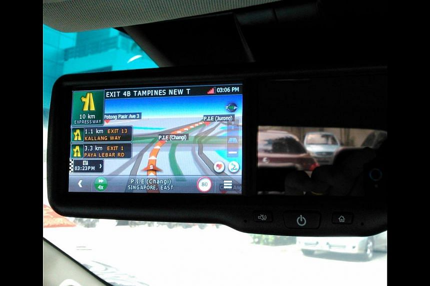 This Eurostyle navigation system incorporates a front-facing video recorder as well as a reverse-parking camera. -- PHOTO: CHRISTOPHER TAN