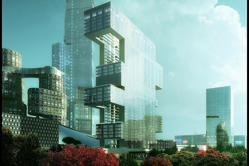 Istanbul's Vakko Fashion Center and Power Media Center (above) was formed out of an abandoned shell of an unfinished hotel project and was completed in 2010. Architect Joshua Prince-Ramus (above) in Singapore recently. Equator Tower by his firm, REX,