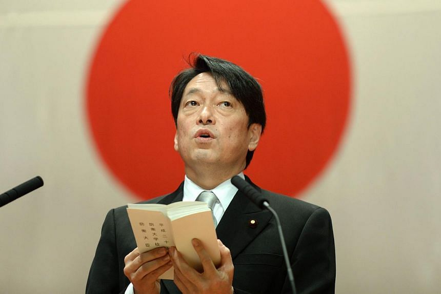Japanese Defence Minister Itsunori Onodera, who attended a ceremony on Yonaguni Island to mark the start of construction, suggested the military presence could be enlarged to other islands in the seas south-west of Japan's main islands. -- FILE