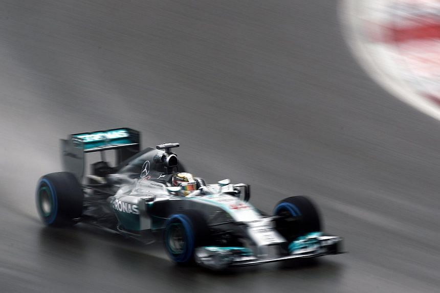 Mercedes Formula One driver Lewis Hamilton drives during the qualifying session of the Chinese F1 Grand Prix at the Shanghai International circuit, on April 19, 2014. -- PHOTO: REUTERS