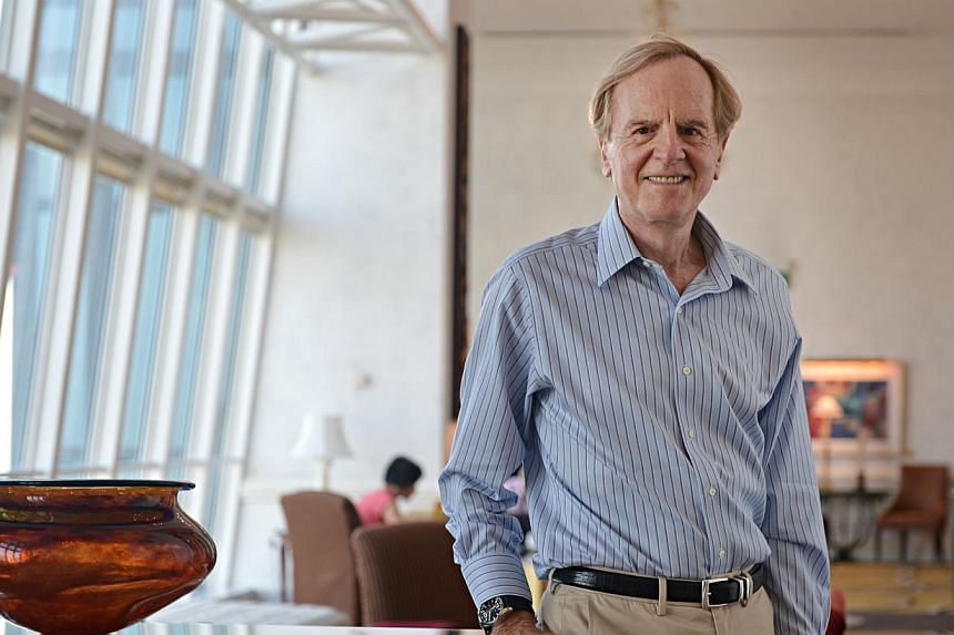 Mr Sculley, whose marketing skills helped bring the personal computer to desktops worldwide, says he plans to launch a mobile phone in India to exploit its still largely untapped smartphone market. -- ST FILE PHOTO: NURIA LING