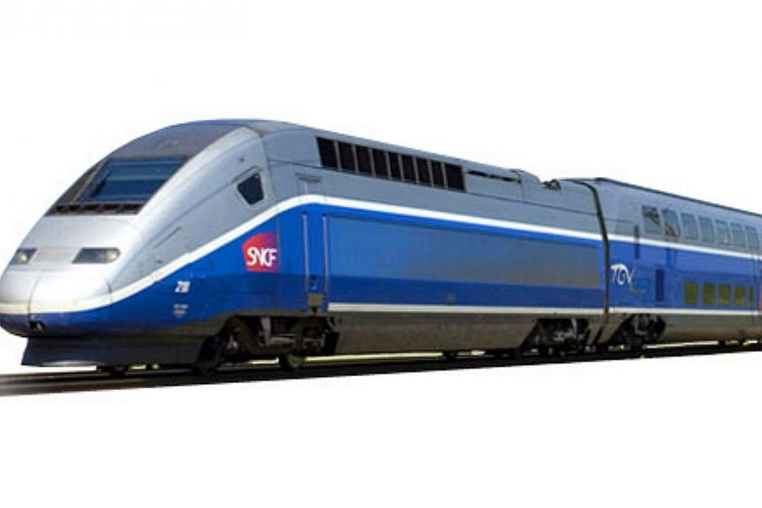 France's Train à Grande Vitesse (TGV), its high speed train system. -- PHOTO: FROM SNCF WEBSITE