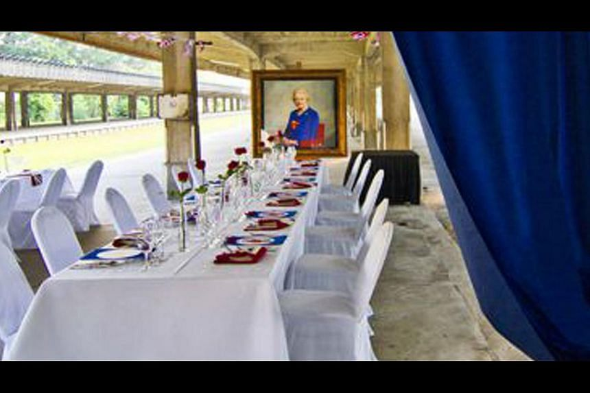 The former train station has been used for events by street label Fred Perry, private dining (above) and a vintage car show. -- PHOTO: MY PRIVATE CHEF