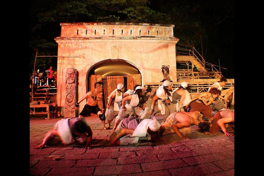 Merah Pawana, a theatre performance by Teater Ekamatra in 2010, took place at Fort Gate. -- PHOTO: TEATER EKAMATRA