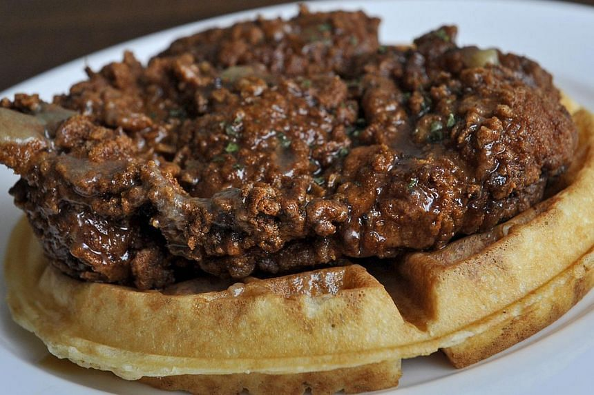 American soul food dish chicken and waffles. -- PHOTO: ST FILE