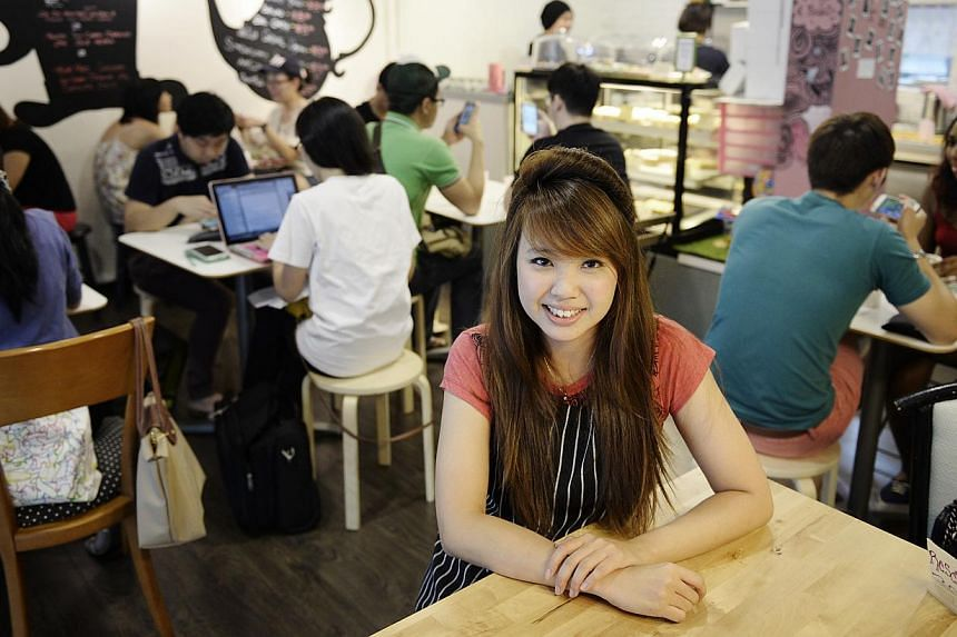 Hatter Street owner Yvette Chua has a Hong Kong-style egg waffle in the works. -- PHOTO: DESMOND LIM
