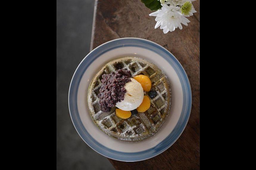Matcha Buttermilk Waffle. -- PHOTO: ST FILE