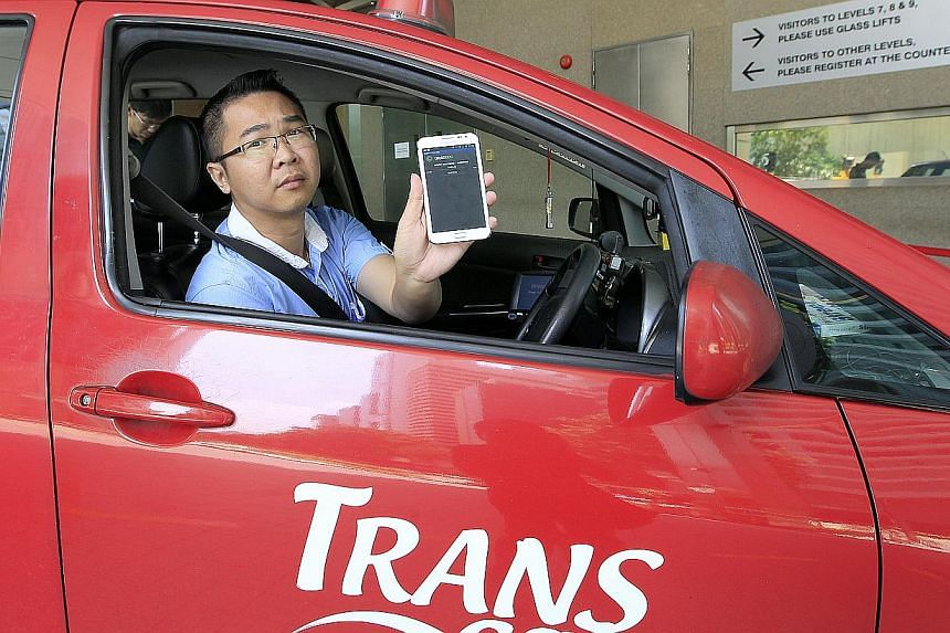 The Android-based mobile app was developed in Malaysia in 2011. It is said to have the second-largest taxi network here, after ComfortDelGro. Taxi driver Wong Hao Min says he earns about $40 more each day after joining the GrabTaxi network as he gets